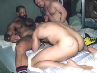 Rogan richards fucks in a threesome hairy muscle