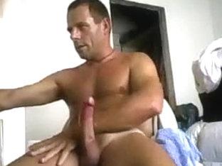 straight webcam man