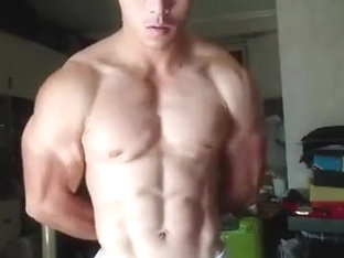 Asian Bodybuilder Flex Boner 03