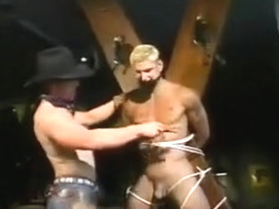 Cowboy domination with blond Guy