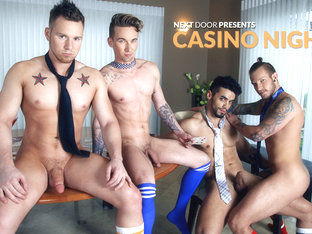 Ashton Webber & Arad & Owen Michaels & Jaxon Colt in Casino Night XXX Video