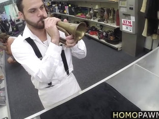 Absolutely straight guy goes gay in the shop and gets anal reamed