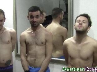 Amateur cumshot trio fuck