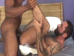 Amazing male pornstar in horny tattoos, blowjob gay sex movie