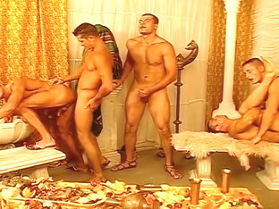 Plenty Of Big Cocks In This Six Man Orgy