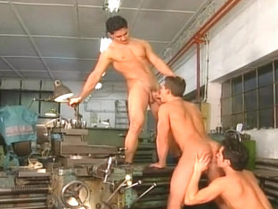 A Big Group Of Studs Suck And Fuck Each Other