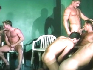 So Many Big Cocks In This Hot Gay Orgy