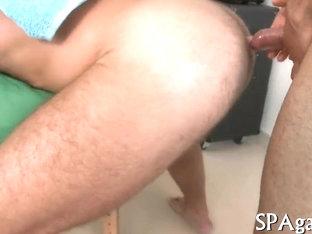 Stroking a black cock