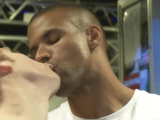 Bound in Public. Sebastian Keys gets his ass stretched and pissed on in a public bar