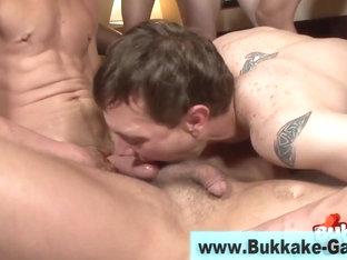 Bukkaked gay dude ass slammed