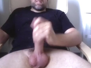 Hot guy is jerking off in his room and memorializing himself on webcam