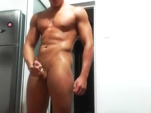 playgirl , inactive sunday, stroke in te kitchen, jerk off & cum