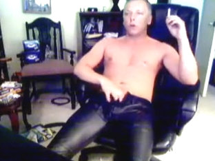 Smoking and Cumming in Leather