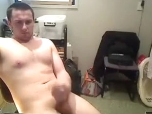Cute boy is masturbating at home and filming himself on web camera