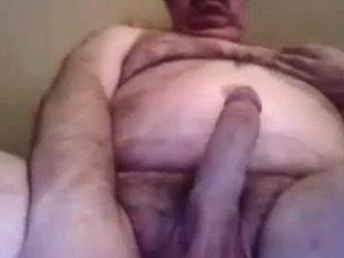 Grandpa cum on cam 11