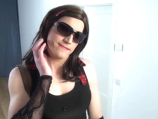 Crossdresser suck dildo oral cumplay-cd tv sissy cayenne