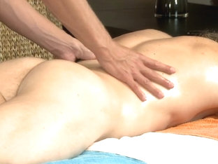 Raunchy massage session