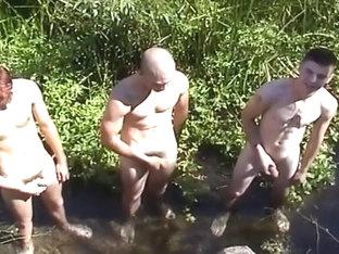 Cute Soldiers in Mutual Masturbation