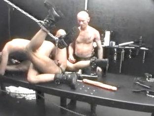 Horny homemade gay clip with BDSM, Dildo scenes