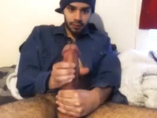 Monster Latin Cock Shoots On Cam