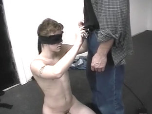 Young Army Stud Blindfolded For Oral Sex