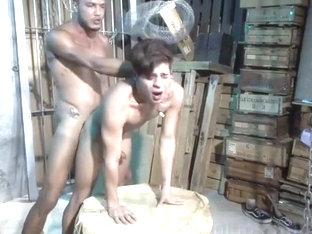 Brutal fuck to twink