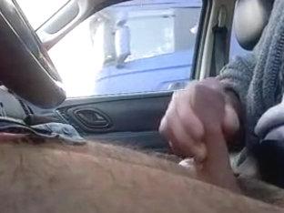 Trucker Flashing 11 - Caught wanking by truckers