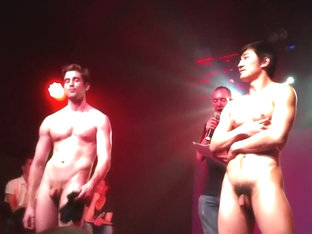 Hot Chinese Guy Strips on Stage