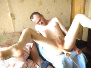LanaTuls - Machine Fucked on Table and Cumming