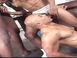 Black gay group oral sex