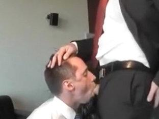 Business man face fucking BJ