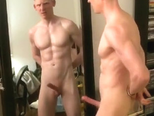 MIRROR FLEX, HARD DICK SHOW-OFF AND SEXY SPUNK FOUNTAIN