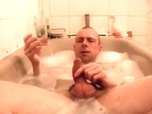 Playing with collected str8 guys' piss in my bath!