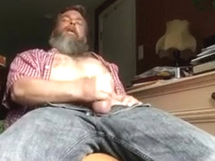 Str8 bear mandy stroke in his room