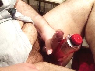 Vibrator on my dick - condom and cum