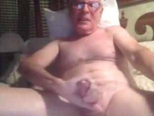 Grandpa cum on cam 8