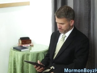 Mormon bishop jerks cock