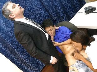 Daddy and Asian Boys Bareback Threesome - DaddysAsians