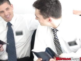 Wrestling mormon jizzes