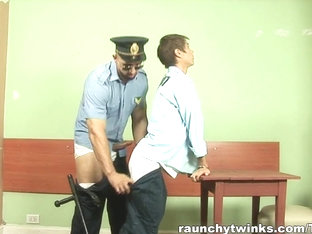 RaunchyTwinks Video: Slim Twink Banged By Cop