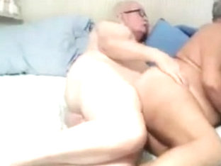 Grandpa couple fuck on cam