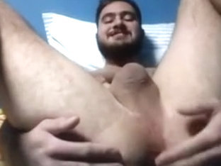 Gay boy fingering his big fat ass on cam