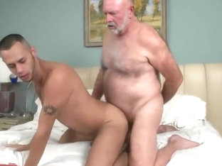 Grandpa fucks a junior boy