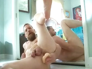 verbal daddy takes a dildo