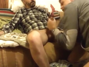 str8 guy, gay friend blowjob