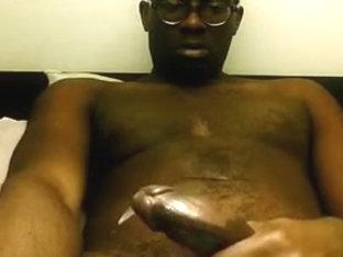 SEXY BLACK NERD JACKIN OFF