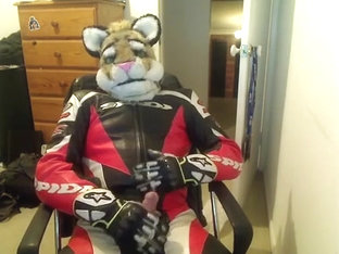Sli paws off in motorcycle leathers