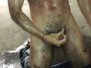 Getting real dirty during piss date in car park