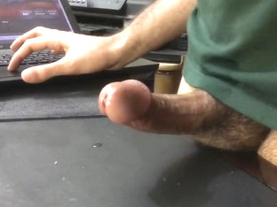Large cumshot , jerking off and watching porn