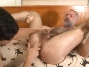 Handsome Grandpa fucks a much younger guy